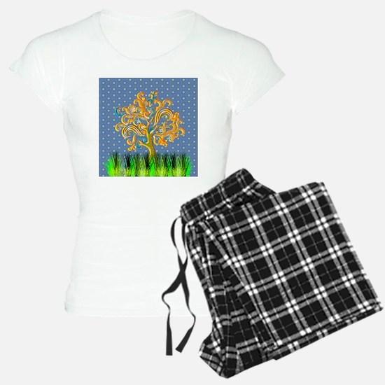 Swirl Tree & Grass Pajamas