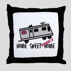 Home Sweet Redneck Home RV Throw Pillow