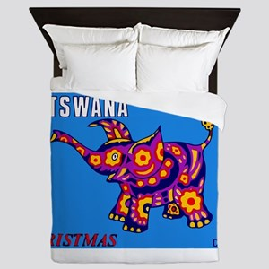 1970 Botswana Elephant Christmas Stamp Queen Duvet