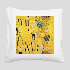 Klimt the Kiss Pattern Detail Square Canvas Pillow