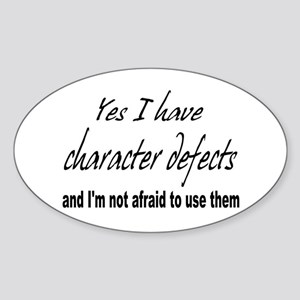 Character Defects Oval Sticker