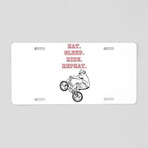 Eat, Sleep, Ride, Repeat Aluminum License Plate