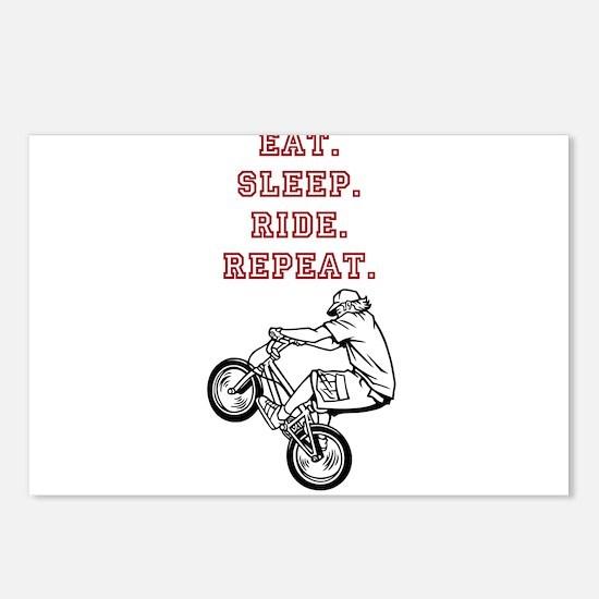 Eat, Sleep, Ride, Repeat Postcards (Package of 8)