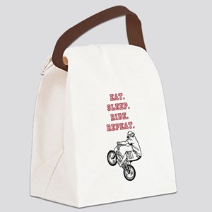 Eat, Sleep, Ride, Repeat Canvas Lunch Bag