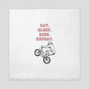 Eat, Sleep, Ride, Repeat Queen Duvet