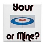 Your House or Mine? Tile Coaster