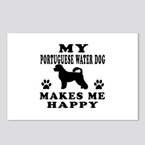 My Portuguese Water Dog makes me happy Postcards (