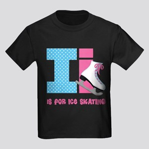 Custom Alphabet Letter I Kids Dark T-Shirt