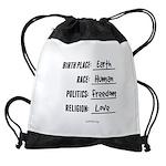 Birth Place Earth Drawstring Bag