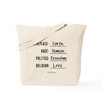 Birth Place Earth Tote Bag