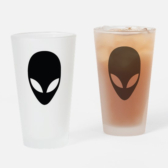 Alien silhouette Drinking Glass