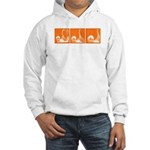 Orange Thrust Hooded Sweatshirt