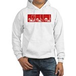 Red Thrust Hooded Sweatshirt