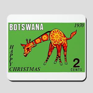 1970 Botswana Giraffe Christmas Postage Stamp Mous