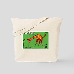 1970 Botswana Giraffe Christmas Postage Stamp Tote