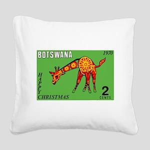 1970 Botswana Giraffe Christmas Postage Stamp Squa