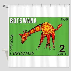 1970 Botswana Giraffe Christmas Postage Stamp Show