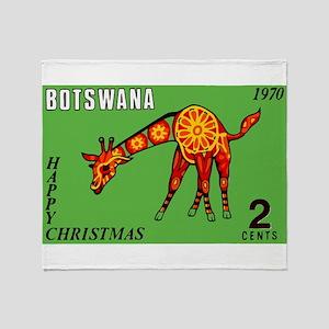 1970 Botswana Giraffe Christmas Postage Stamp Thro