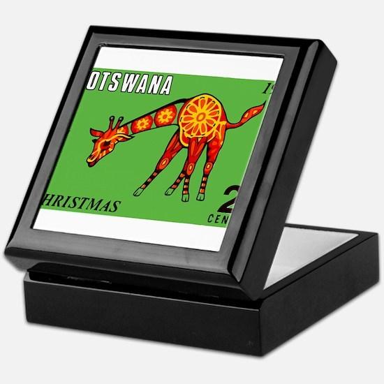 1970 Botswana Giraffe Christmas Postage Stamp Keep