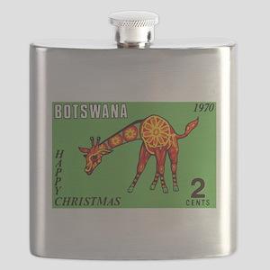 1970 Botswana Giraffe Christmas Postage Stamp Flas
