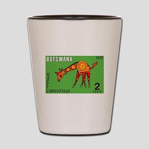 1970 Botswana Giraffe Christmas Postage Stamp Shot