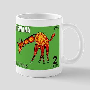 1970 Botswana Giraffe Christmas Postage Stamp Mugs