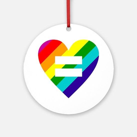 Cute Gay pride Round Ornament