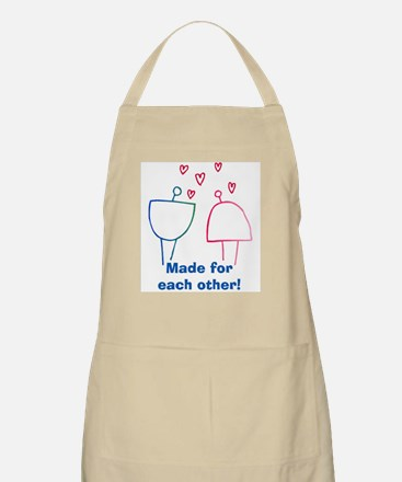 Made for Each Other BBQ Apron
