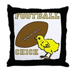 Football Chick Sports Fan Throw Pillow