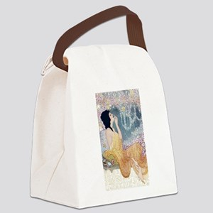 Art Deco Vanity Lady Canvas Lunch Bag