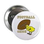Football Chick Sports Fan Pin
