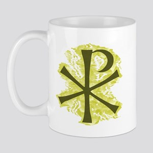 Yellow Glow Chi Ro Cross Mug