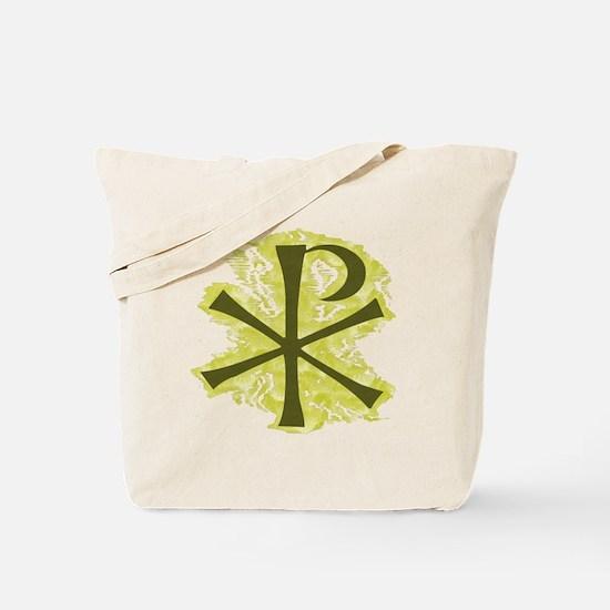 Yellow Glow Chi Ro Cross Tote Bag
