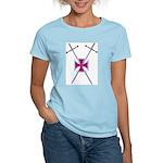 Crossed Swords Women's Pink T-Shirt