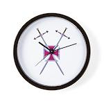 Crossed Swords Wall Clock