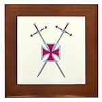 Crossed Swords Framed Tile