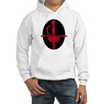 Red & Black Rapier Hooded Sweatshirt
