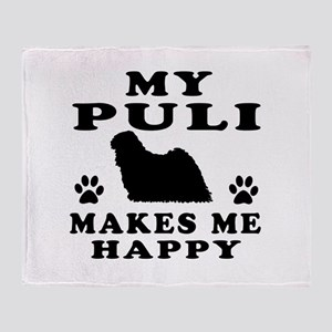 My Puli makes me happy Throw Blanket