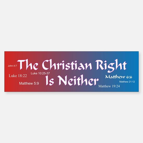 The Christian Right Is Neither Bumper Bumper Bumper Sticker