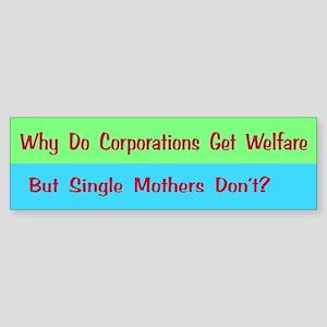 Corporate Welfare Bumper Sticker