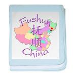 Fushun China Map baby blanket