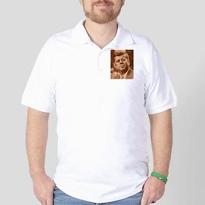 John F. Kennedy Sepia Tone Golf Shirt