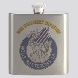 DUI - 3rd Infantry Division with Text Flask