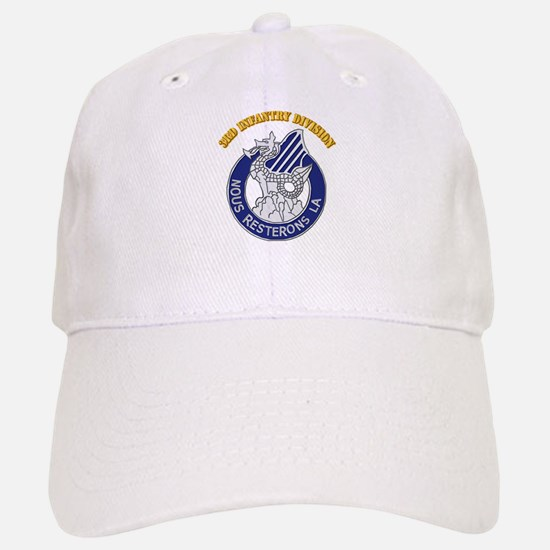 DUI - 3rd Infantry Division with Text Baseball Baseball Cap