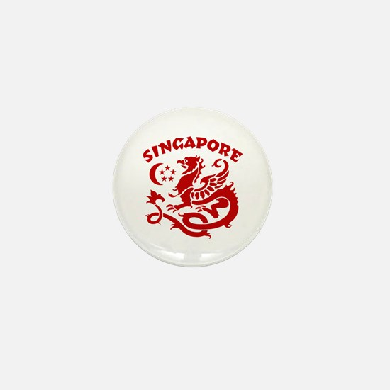 Singapore Dragon Mini Button