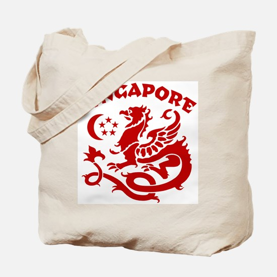 Singapore Dragon Tote Bag