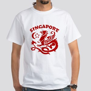 Singapore Dragon White T-Shirt