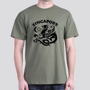 Singapore Dragon Dark T-Shirt
