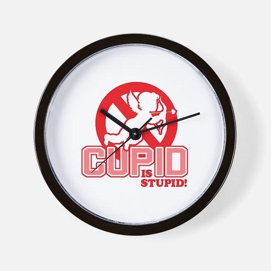 Cupid Is Stupid Wall Clock
