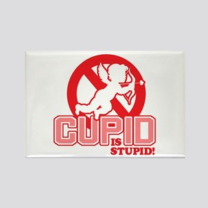 Cupid Is Stupid Rectangle Magnet